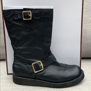 Coach Kenna Napa Black Leather Boots
